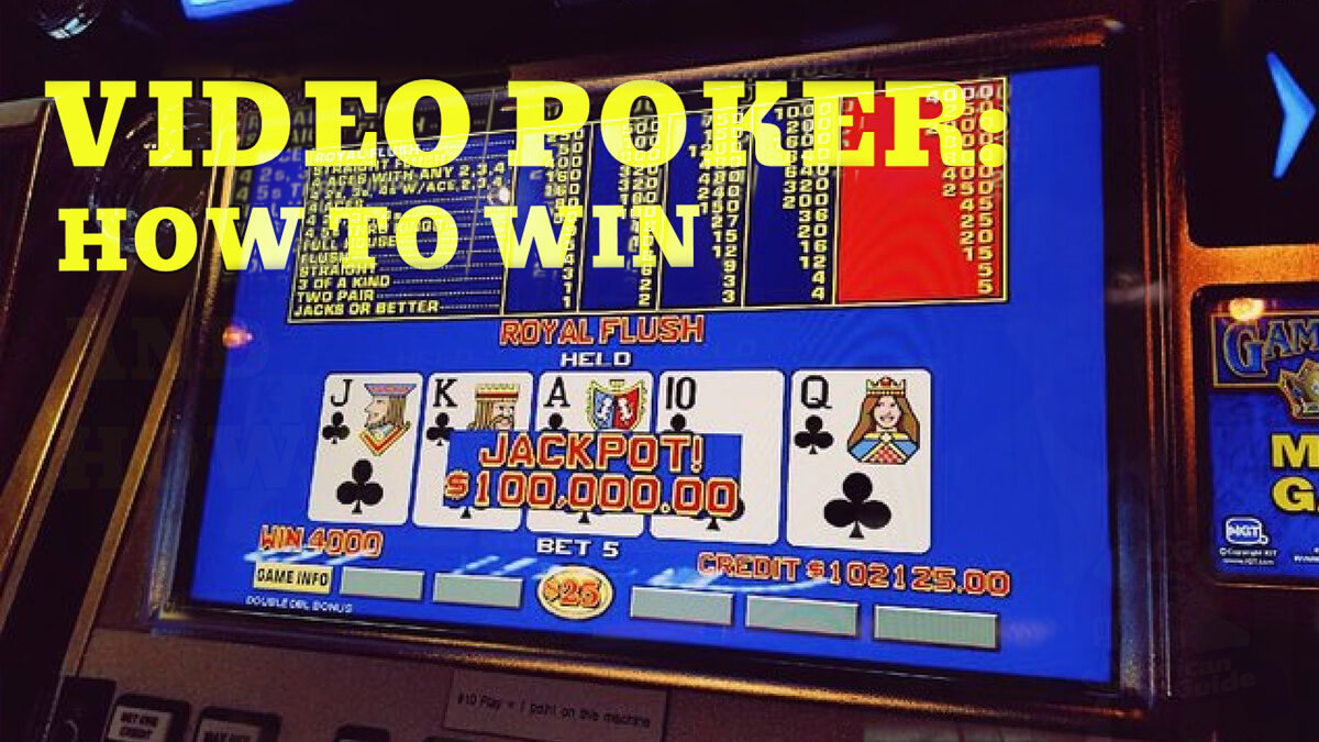 Video Poker Training: Increase Your Odds